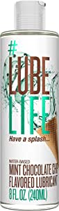 #LubeLife Water Based Mint Chocolate Chip Flavored Lubricant, 8 Ounce Sex Lube for Men, Women and Couples (Mint Chocolate Chip)