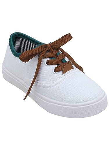 salida para la venta sin impuesto de venta disfruta de un gran descuento D'chica Boy's Bro Classic White Lace Up Sneakers: Buy Online ...