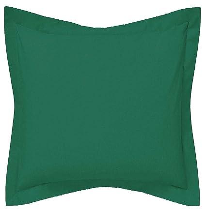 SAFFRON Funda de cojín decorativa a medida – Funda de almohada con brida botella verde algodón