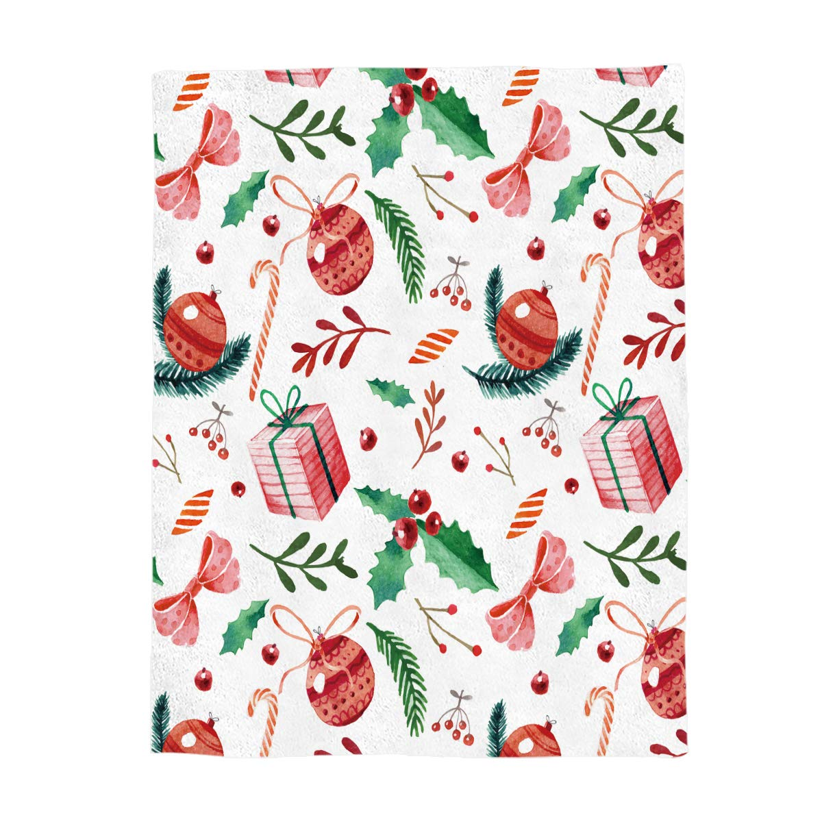 Christmas060gry8558 Full Size 50 x60  Greday Christmas Throw Blankets for Adults Kids Comfort Luxuriously Soft Throw Blanket AllSeasons Couch Blanket or Bed Throw,Full Size 50 x60