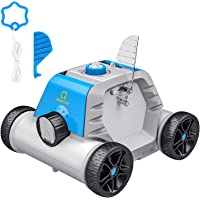 OT QOMOTOP Robotic Pool Cleaner, Rechargeable Cordless Design for Above and In-Ground Swimming Pools, 90 Mins Working Time, IPX8 Waterproof, Power Detection Built-in Water Sensor Technology