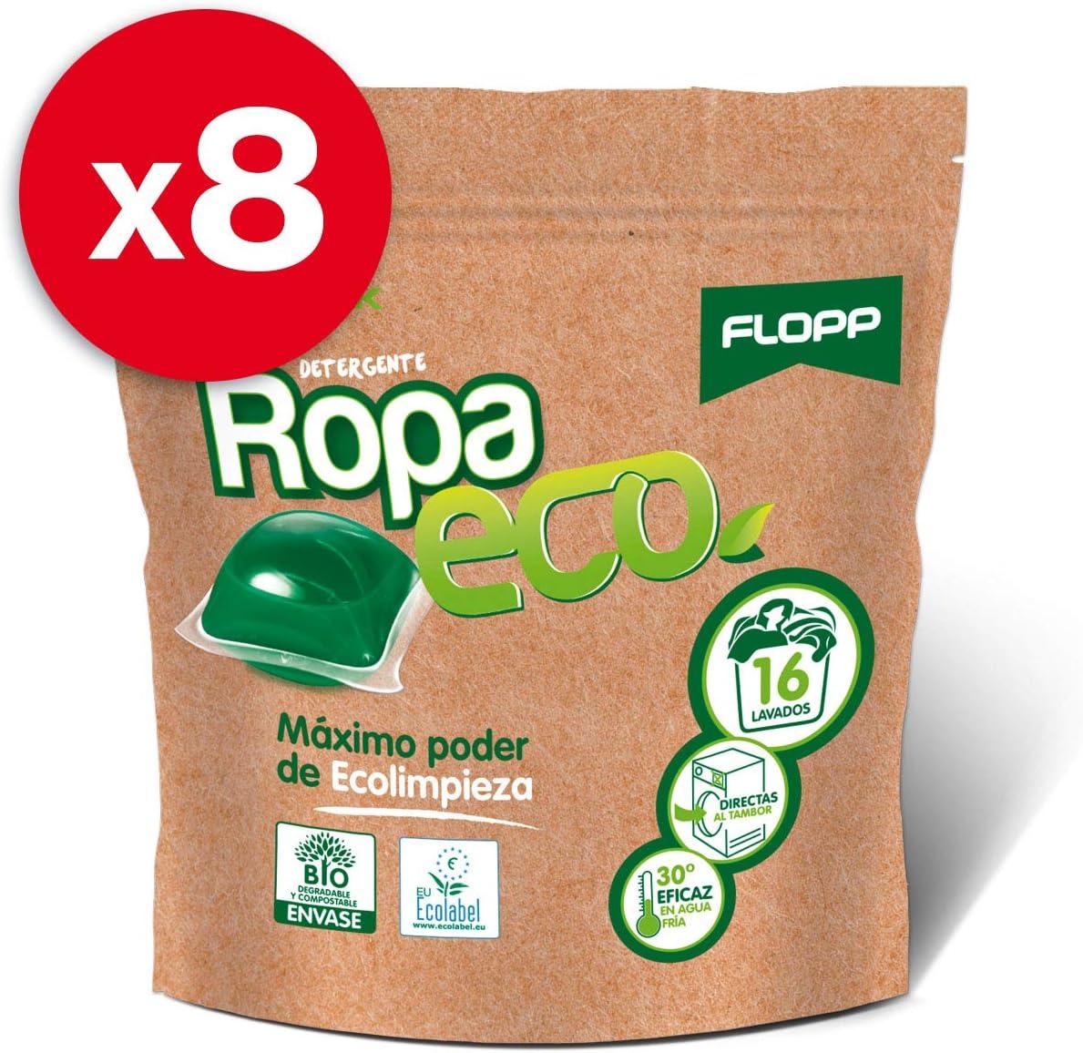 Flopp - Detergente Ecológico en Cápsulas para la Ropa, 16 Cápsulas ...