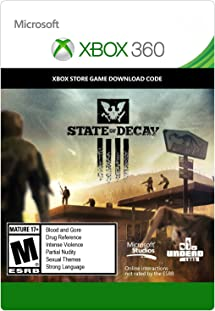 Amazon com: State of Decay - Xbox 360 Digital Code: Video Games