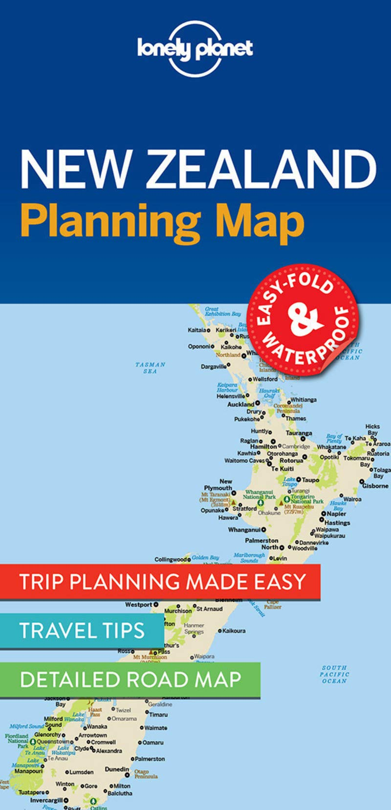 Lonely Planet New Zealand Planning Map 9781786579041