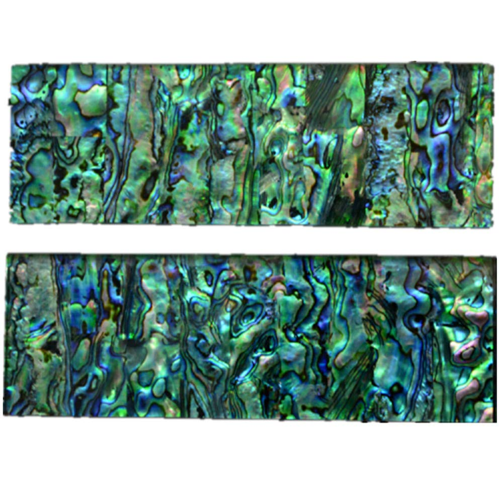 Aibote 2pcs Natural New Zealand Colorful Abalone Shell Knife Handle Scales Handles Material Knives Top Custom DIY Tools for Blanks Blades Jewelry Making(Each Pair is Unique)