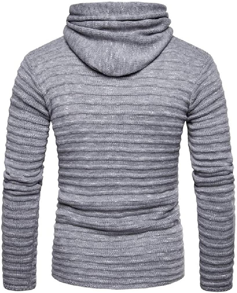Joe Wenko Mens Burnout Slim Zip-Up Ruched Hooded Sweatshirts with Pocket