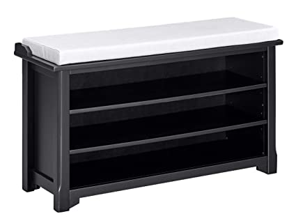 Astonishing Ravenna Home Radcliffe Upholstered Storage Bench 40W Black Ncnpc Chair Design For Home Ncnpcorg