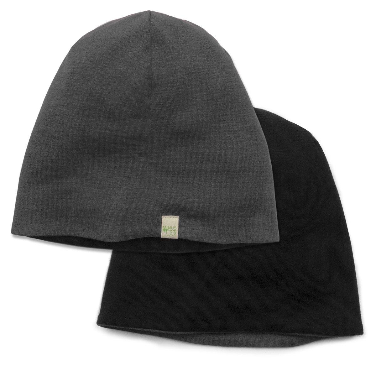 Minus33 Merino Wool Reversible Shade Beanie, Black/Charcoal Grey, One Size