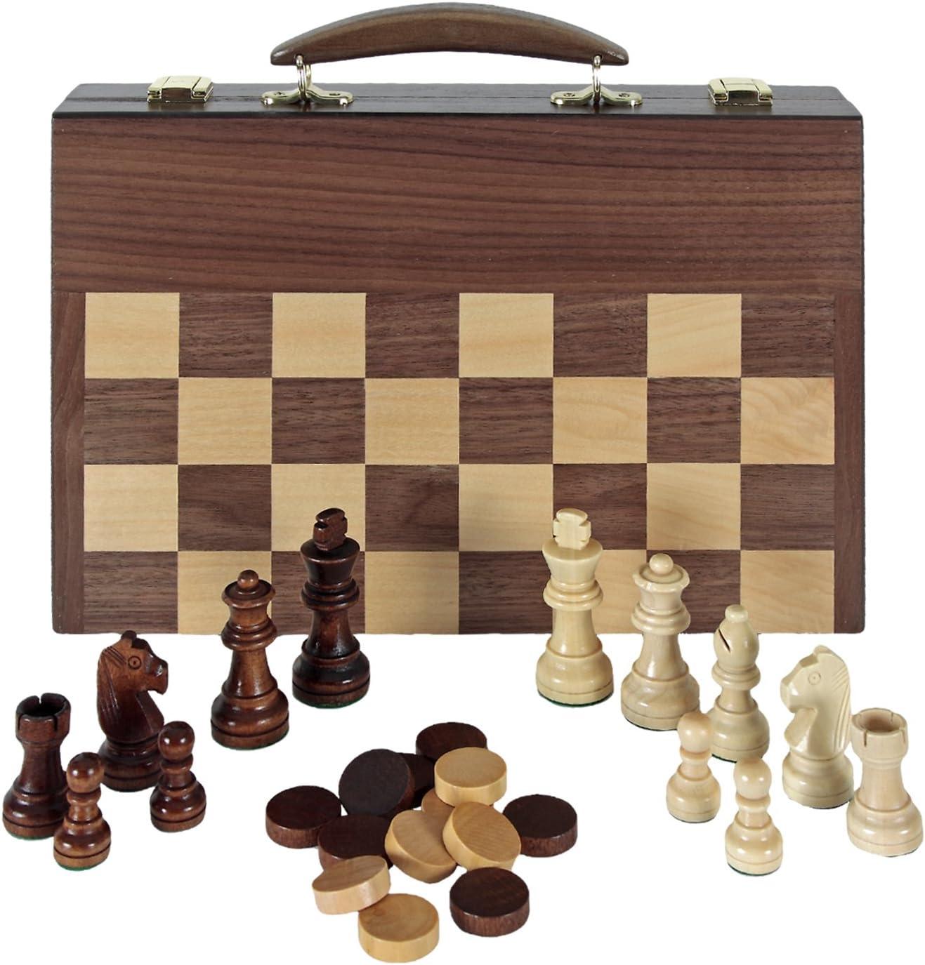Aquamarine Games Ajedrez, Damas y Backgammon en maletin (Compudid FD100616), Multicolor: Amazon.es: Juguetes y juegos
