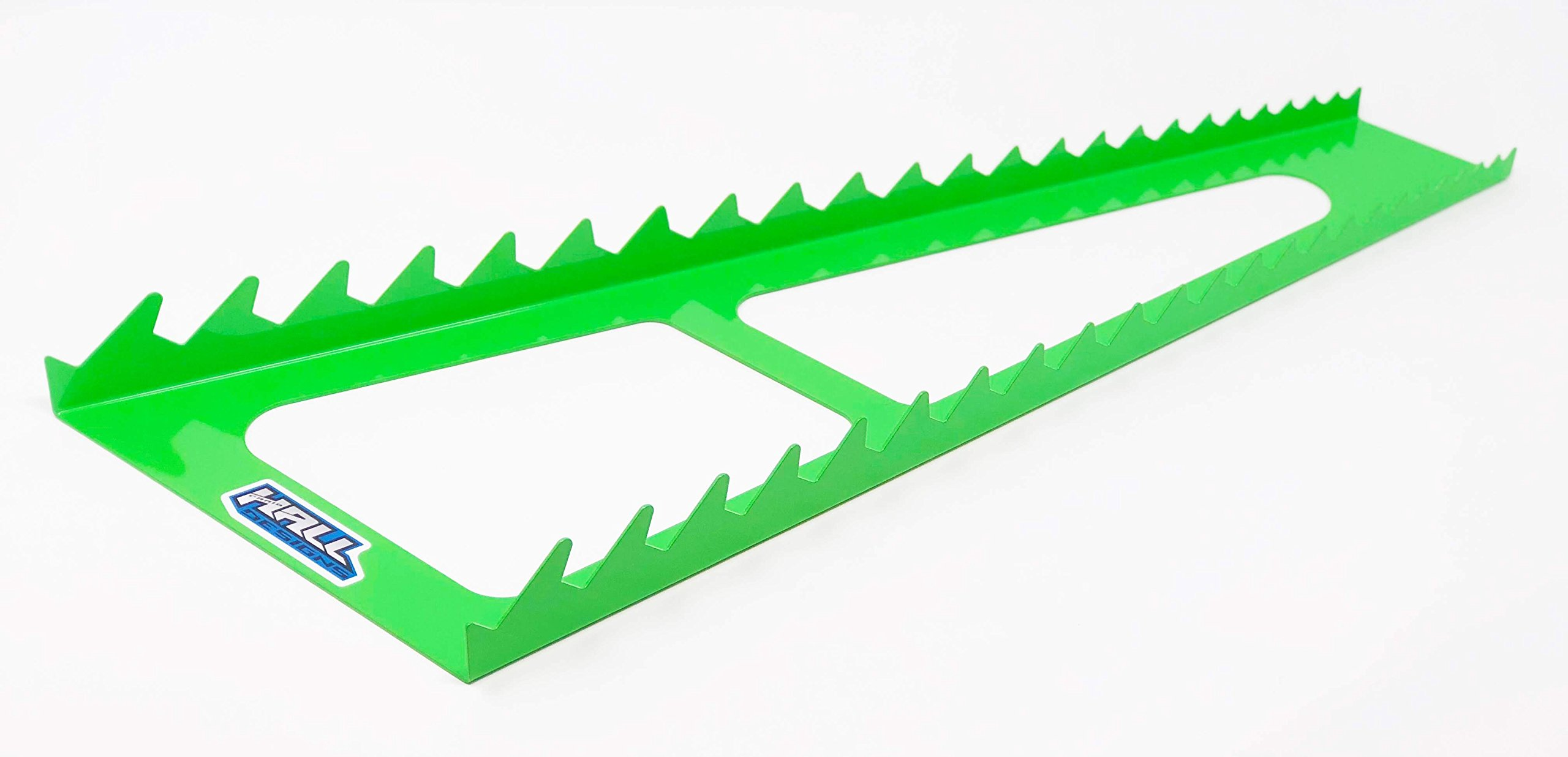 Wrench rack by Hall Designs | 24 slot, reverse, steel. Made in USA (GREEN)