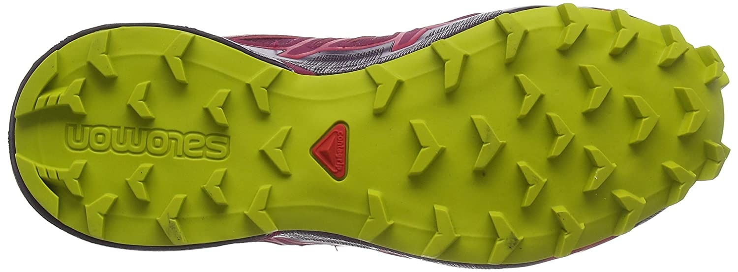 Salomon Women's Speedcross 4 GTX W Trail Running Shoe B078SYD5G6 9.5 M US|Beet Red/Potent Purple/Citronelle