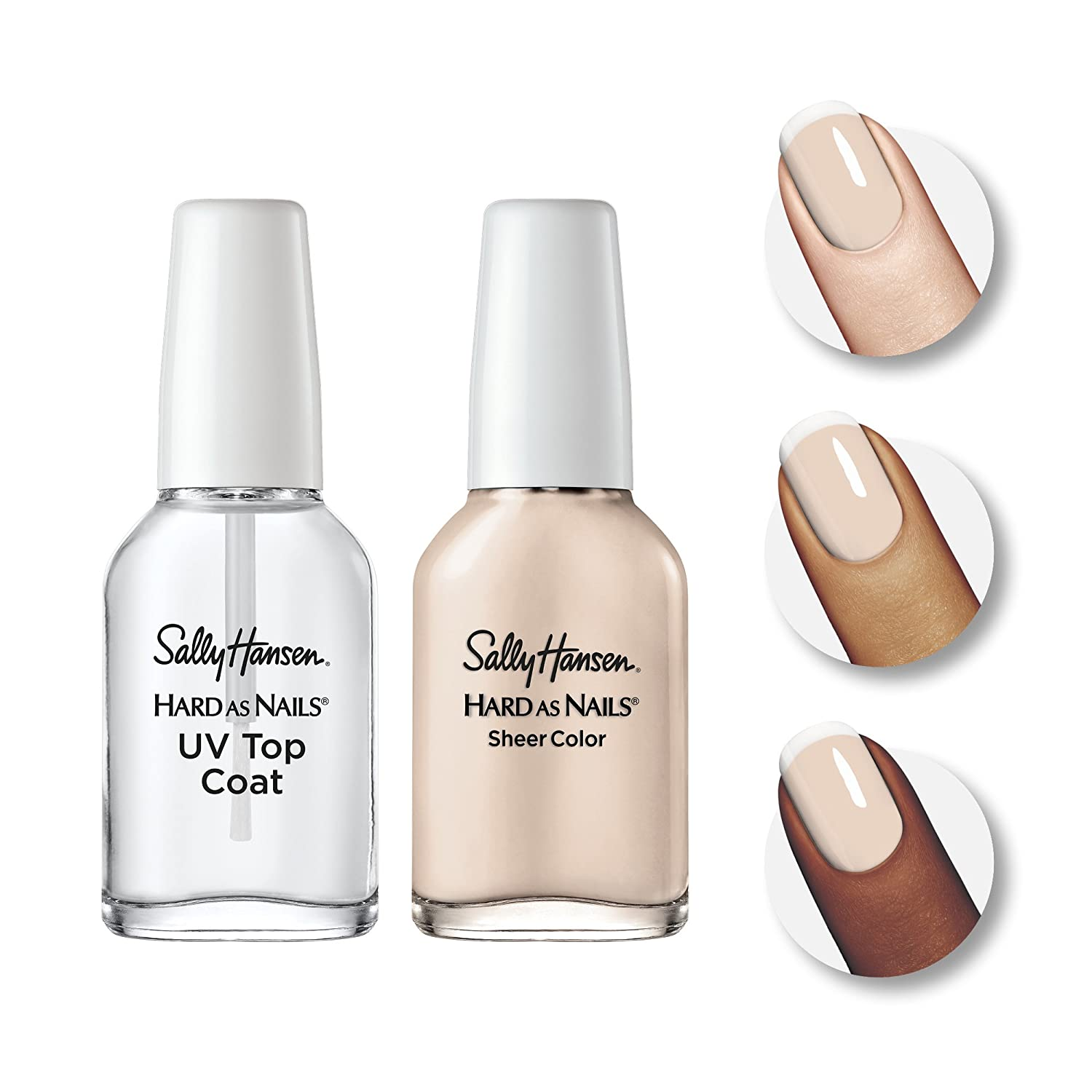 Sally Hansen Hard as Nails French Manicure Kit, Nearly Nude ...