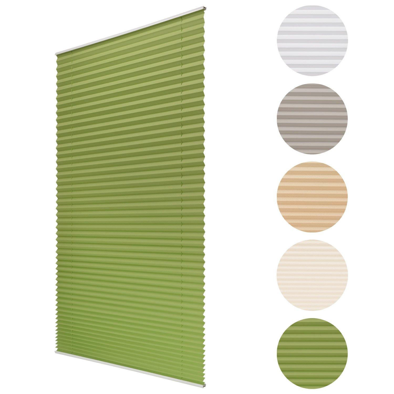 Sol Royal Tenda plissettata per finestre SolDecor P25 - 35x120 cm verde - veneziana plissé per interni - ganci inclusi