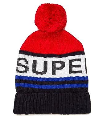 8edc1999765cd0 Superdry Redford Logo Knitted Bobble Beanie Hat Dark Navy/Red:  Amazon.co.uk: Clothing