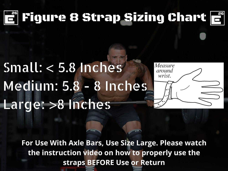 Figura 8, para Hombres, Mujeres, Crossfit, Levantamiento de Pesas, Levantamiento de Peso y Levantamiento de Pesas Element 26 Correas Acolchadas para Levantamiento de Pesas