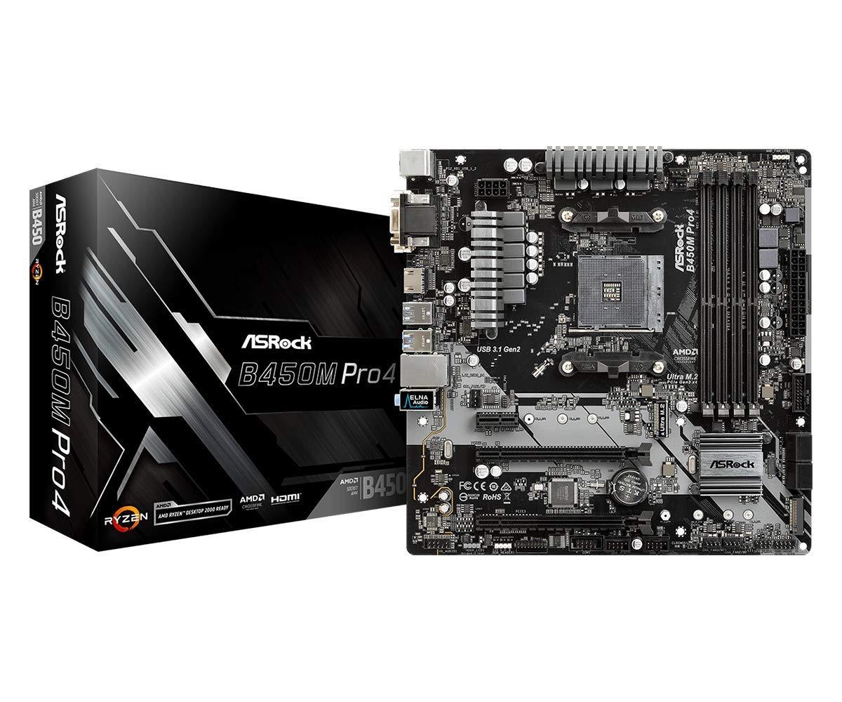 ASRock MicroATX Motherboard (B450M PRO4) by ASRock