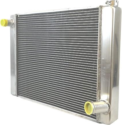 "For Chevy GM SBC BBC Aluminum Racing Radiator 2 Row Single Pass 29/"" x 19/"" x 3/"""