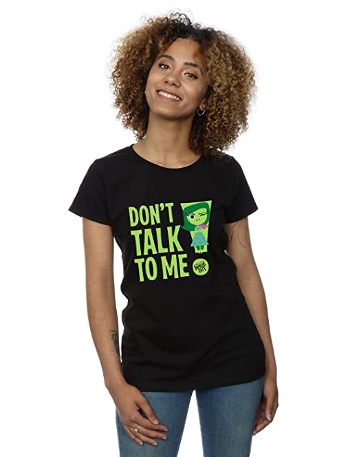 Disney mujer Inside Out Dont Talk to Me Camiseta X-Small Negro