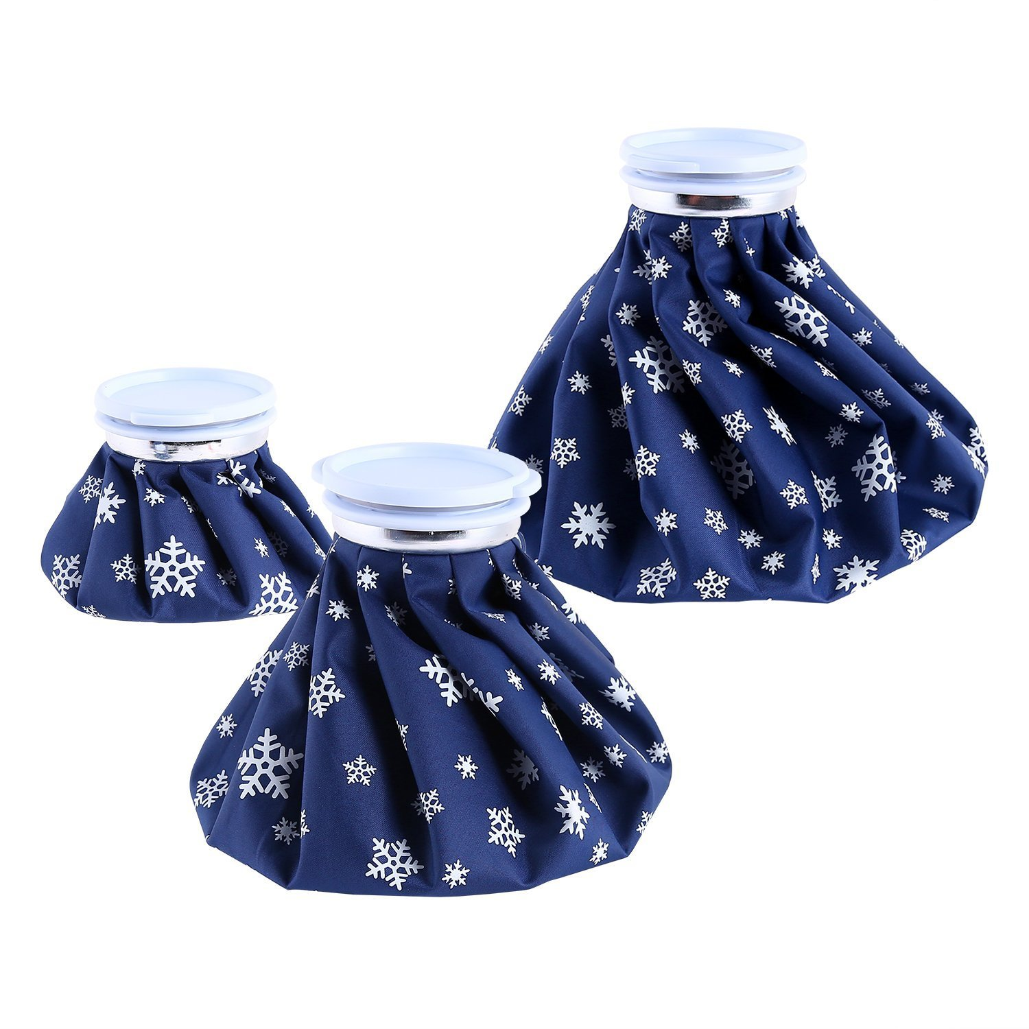 Ohuhu Hot Cold Ice Pack Reusable Ice Bag 3 Pack [11'' 9'' 6''] Hot Cold Therapy For Knee Leg Injury