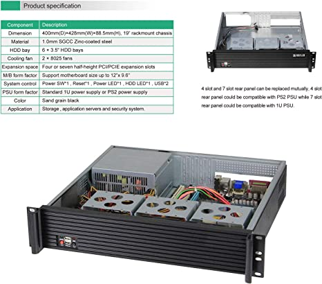 etc//Empty case JINDIAN 2U Chassis Storage Server Chassis It is Applied in The Field of Internet of Things Cloud Computing Security Monitoring