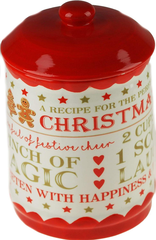 BWG Gingerbread Man Christmas Ceramic 19cm Kitchen Cookie Jar.