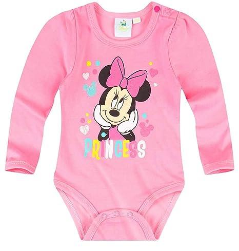 Pelele de manga larga para bebé, diseño de Minnie Mouse, color