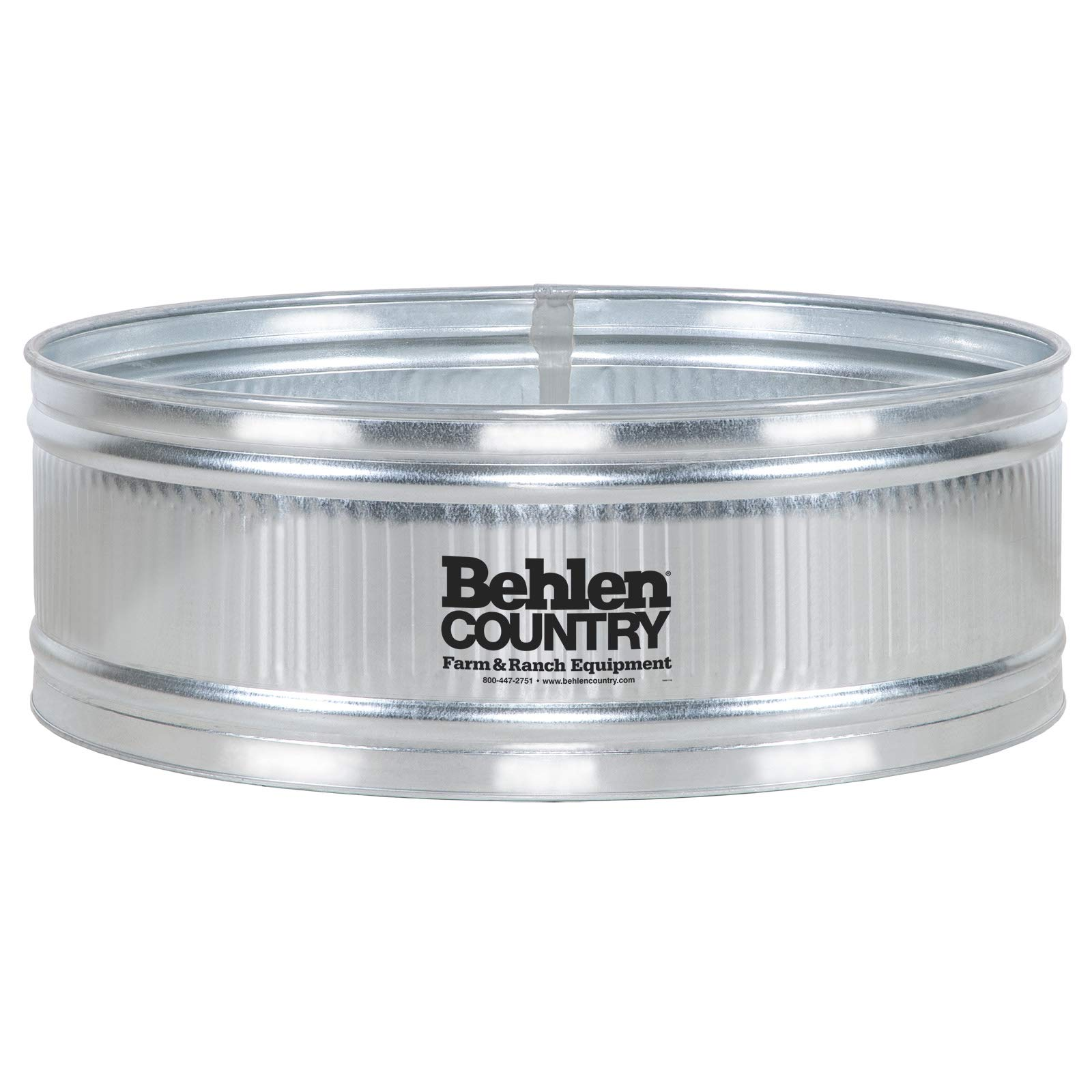 Behlen Country 6′ Galvanized Steel Stock Tank Round Approximately 389 Gallon Livestock Watering Outdoor Garden Pool