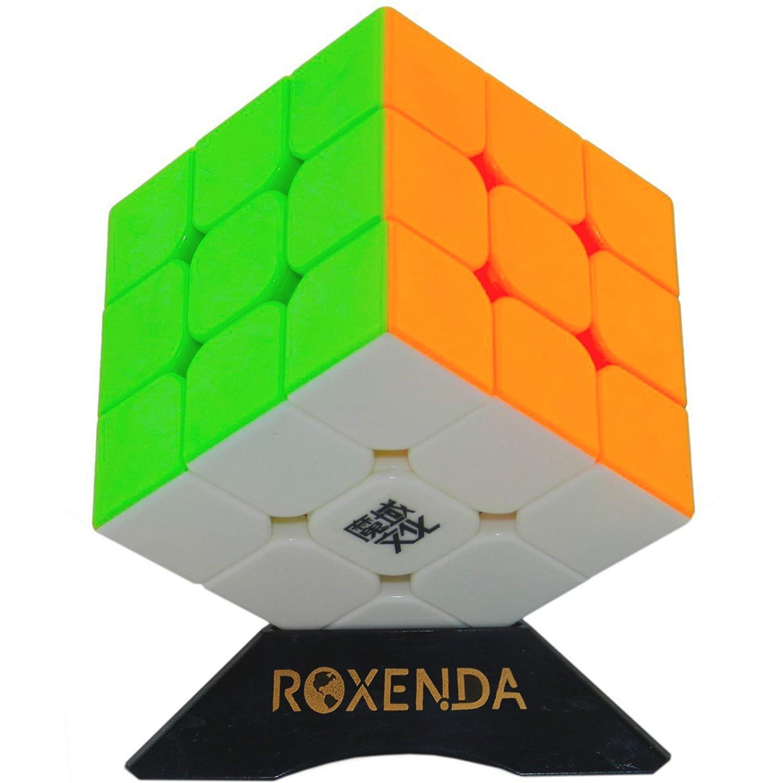 Professioneller Zauberwürfel, Roxenda MoYu Aolong V2 3x3x3 Zauberwürfel Sonderwettbewerb Ultra Schnelle Edition; Super-haltbarer glatter Drehbeschleunigung-Aufkleber mit klaren Farben; Leicht zu drehen (schwarz)