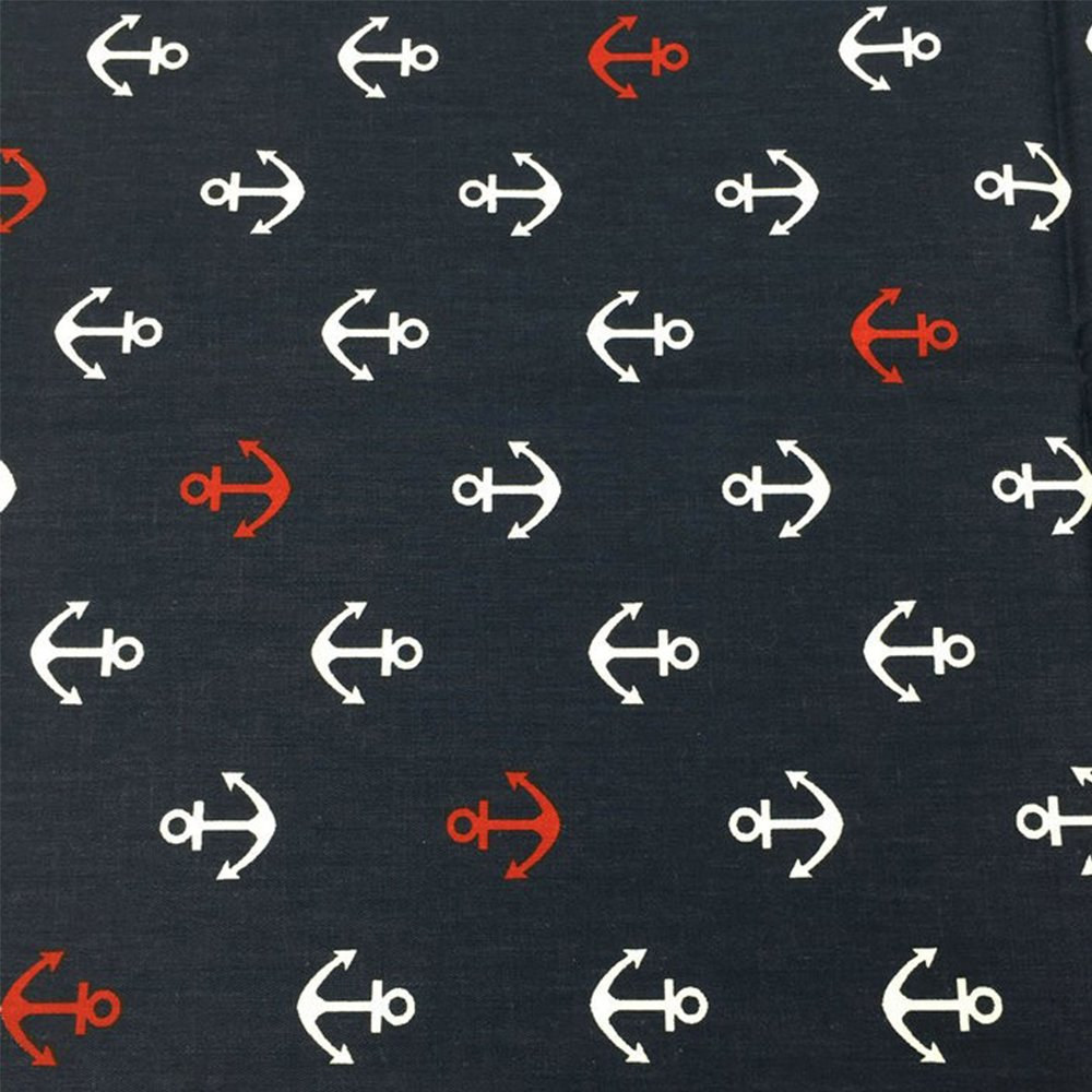 Half meter 19.7 x 63 Anchor Printed Cotton Fabric For decoration,Sewing,Patchwork,Cushions,Bedding Textile and Fabric by the yard SHENGZE