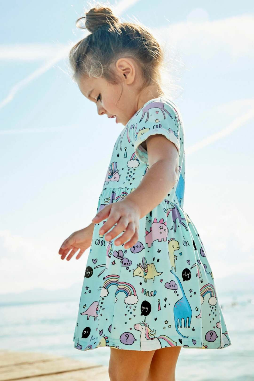 Little Girls Dinosaur Tunic Short Sleeve Summer Casual Dress size 2t(1t-2t) by Bumeex (Image #3)