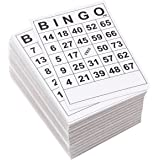 Juvale 3-60 Pack Disposable Bingo Game Card Sets (180 Cards Total)