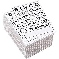 Juvale Tarjetas de Bingo – 180 Unidades Desechables Tarjetas de Juego de Bingo, Tarjetas de Juego de Papel para Noches Familiares, Eventos de Caridad, Fiestas, Negro y Blanco, 6,1 x 4,1 Pulgadas