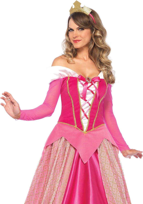 Mujer Leg Avenue-Pink Princess Aurora Fancy Dress Costume EUR 42-44 Large//UK 14-16, 2-Piece 85612 Color Rosa,