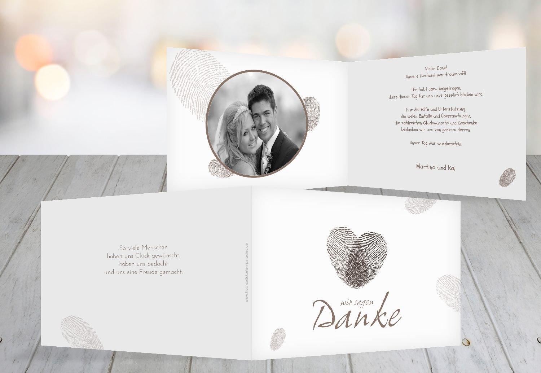Kartenparadies Danksagung für Hochzeitsgeschenke Hochzeit Dankeskarte fingerprint, hochwertige Danksagungskarte Danksagungskarte Danksagungskarte Hochzeitsglückwünsche inklusive Umschläge   20 Karten - (Format  148x105 mm) Farbe  Grau B01NAVM1KP   Zu verkaufen    Ausg 519ee6