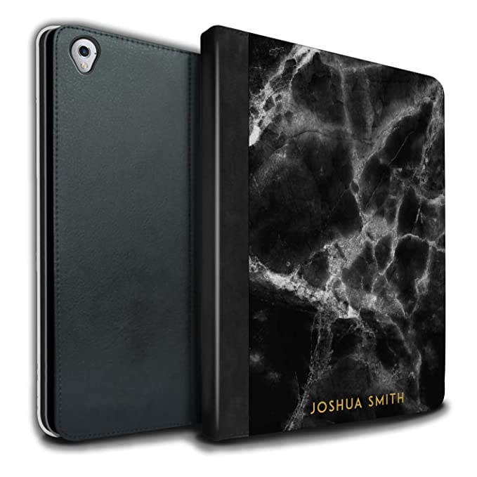 official photos 6aa46 14f79 Amazon.com: Personalized Custom Marble PU Leather Case for Apple ...