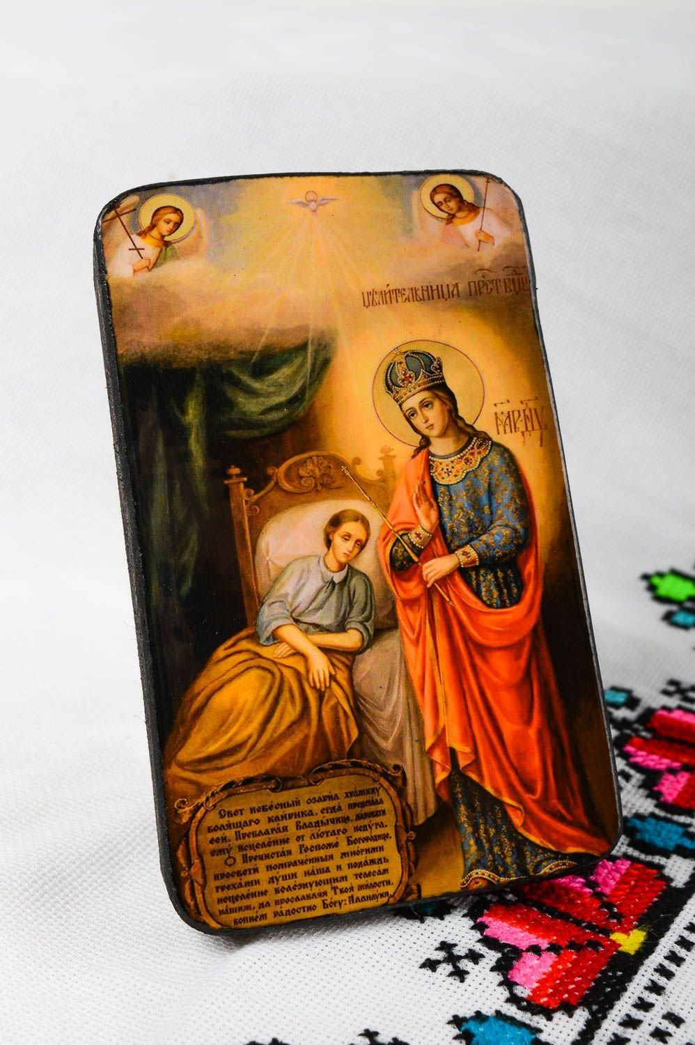 Handmade Icon Faith-healer Orthodox Mary God39;s Mother Blessing Virgin