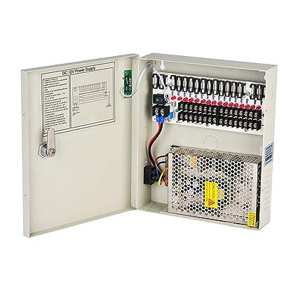 amazon com lapetus 16 channel port 12v dc 10 amp amper with ptcFuse Status Indicators For Power Supply 12v #3
