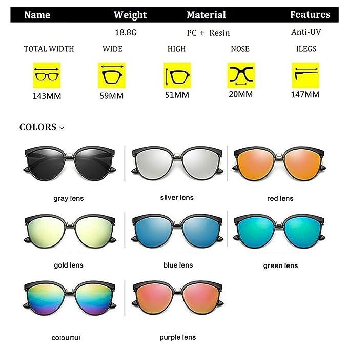 Amazon.com: Cat Eye Sunglasses Women Luxury Plastic ...