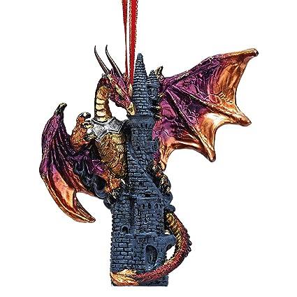 Christmas Tree Ornaments - Zanzibar the Gothic Dragon on Castle Holiday  Ornament - Dragon Statue - Amazon.com: Christmas Tree Ornaments - Zanzibar The Gothic Dragon On
