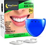 SleepDreamz® Mouth Guard For Grinding Teeth – 2 x Teeth Grinding Guard – Protect Against Bruxism And TMJ, With Our Gum Shield For Grinding Teeth – Pack Includes Two Single Mouth Guards For Teeth Grinding