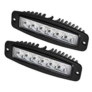 flush mount led spot light pods jeep rear bumper lights truck installing in