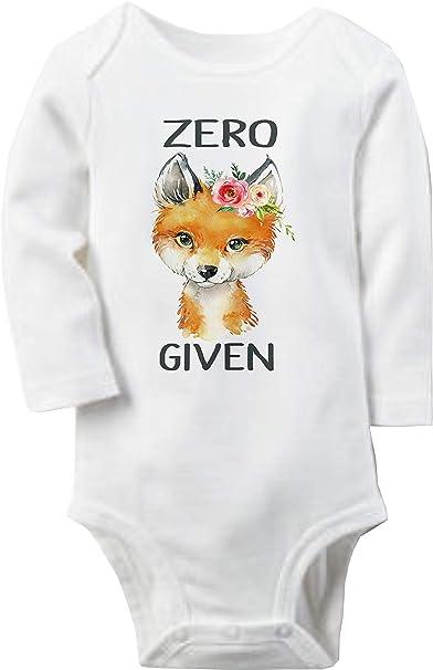 32e065542 Amazon.com: Zero Fox Given - Funny Baby Girl Bodysuit or Toddler T-Shirt:  Clothing