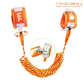 Zoo or Mall Upgrade with Reflective - for Boys and Girls to Disneyland Child Safety Harness 6.5ft Orange Toddler Harness Walking Leash- Child Anti Lost Wrist Link