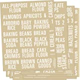 Talented Kitchen 224 Pantry Labels. All Caps Pantry & Fridge Mega Labels Set. 224 Food Jar Stickers Decal. Water…