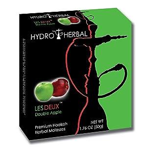 Hydro Herbal 50g Double Apple Hookah Shisha Tobacco Free Molasses