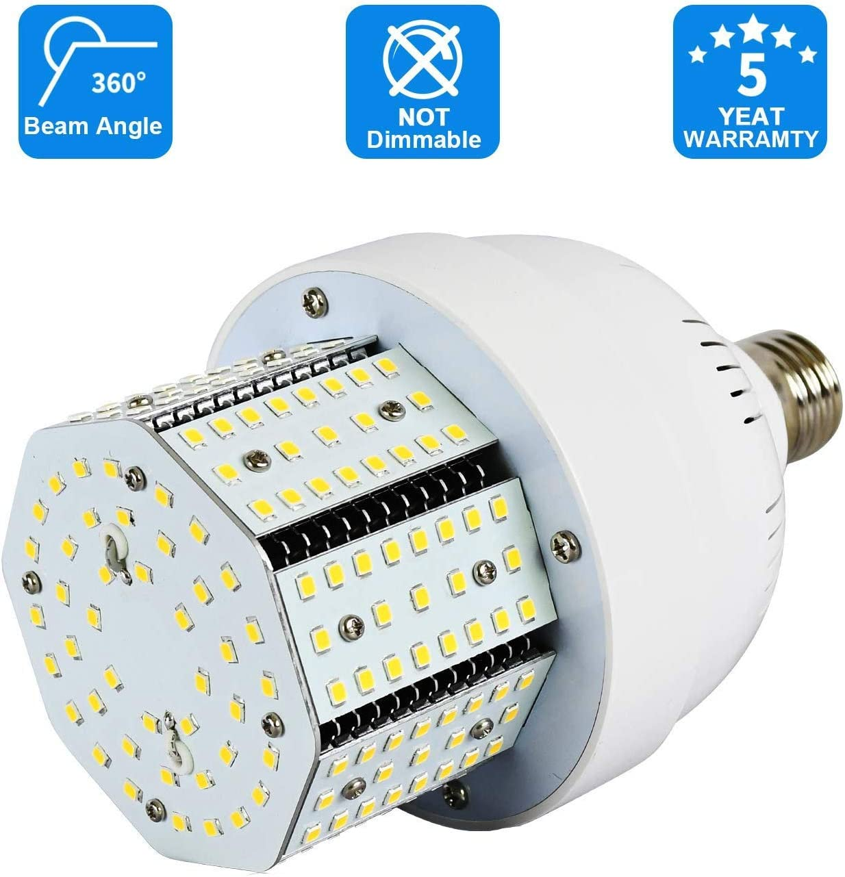 Corn Cob Bulb 5000K Daylight Light for for Indoor Outdoor Garage Factory Retrofit Warehouse Barn Backyard High Bay Stadium Track,AC100-277V Input Lawind 135W LED Corn Light Bulb E39 135W