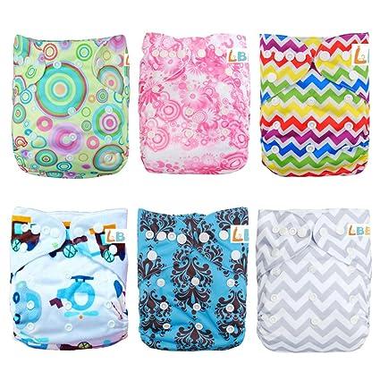 LBB (TM) Baby kg, lavable pañales de tela de bolsillo con ajustable Snap