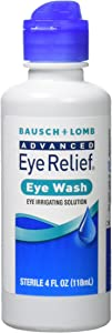 Bausch & Lomb Advanced Eye Relief Eye Wash, 4-Ounce Bottles (Pack of 3)
