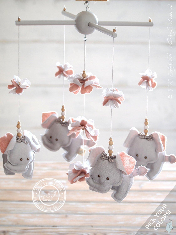 Amazon.com: Grey & Pink Elephant Nursery Decor, Pink & Grey