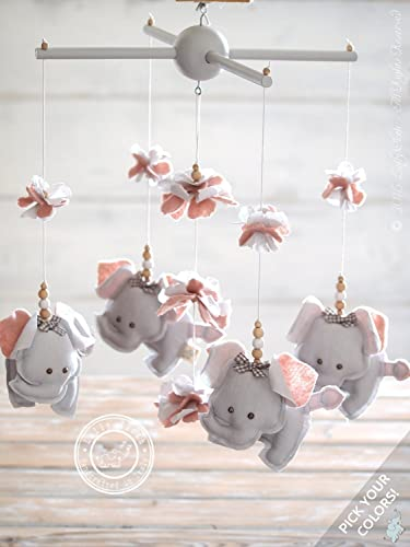 Amazon Com Grey Pink Elephant Nursery Decor Pink Grey Nursery